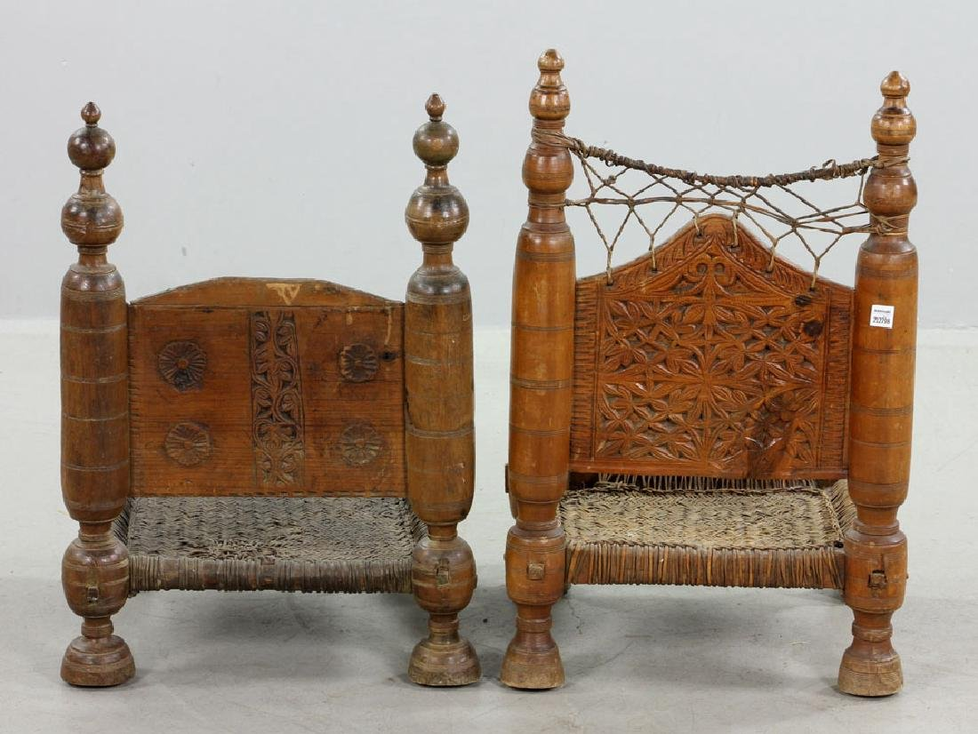 Two 19th C. Middle Eastern Chairs - 3