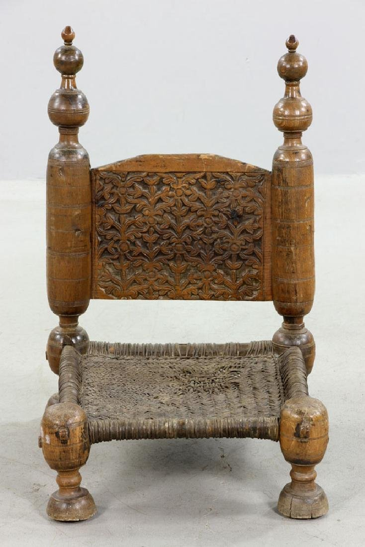 Two 19th C. Middle Eastern Chairs - 4
