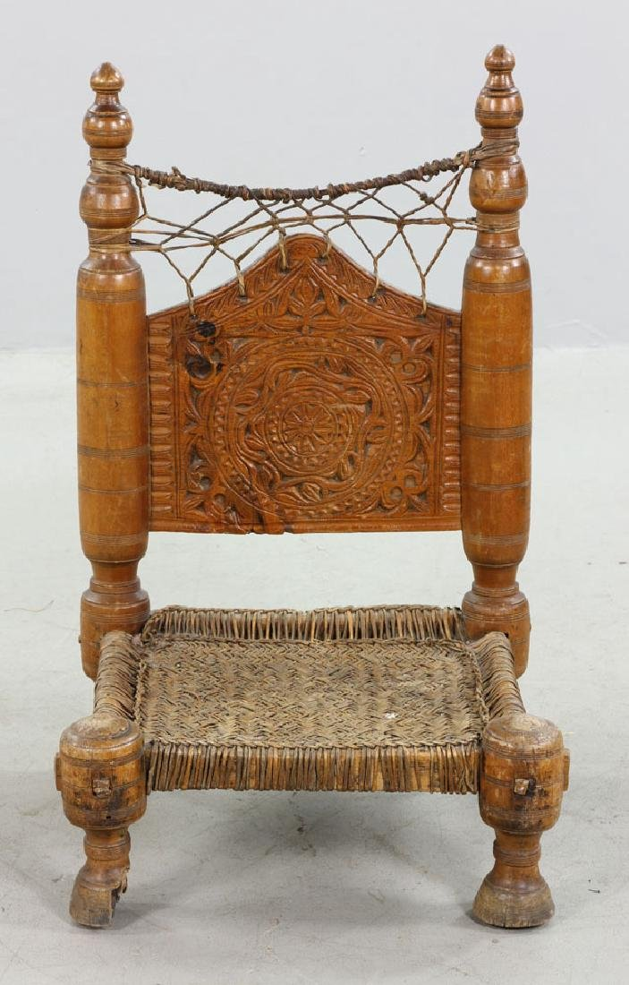 Two 19th C. Middle Eastern Chairs - 5