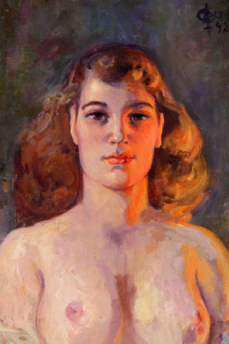 Di Cesare, Nude Portrait, Oil on Canvas - 2