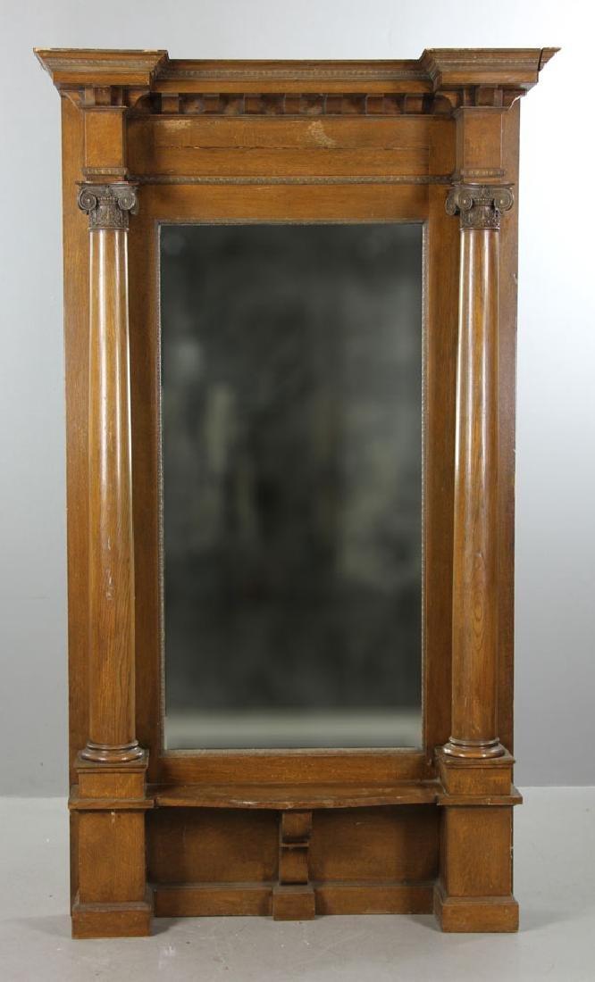 Large Oak Pier Mirror