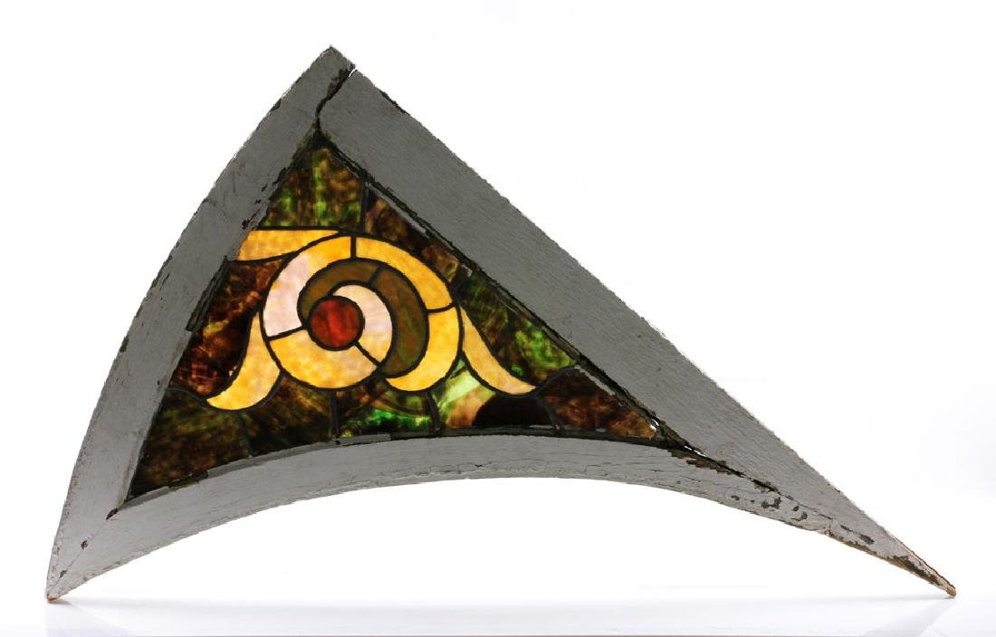 Pair of Stained Glass Architectural Elements - 2