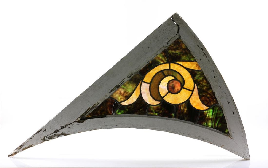 Pair of Stained Glass Architectural Elements - 3