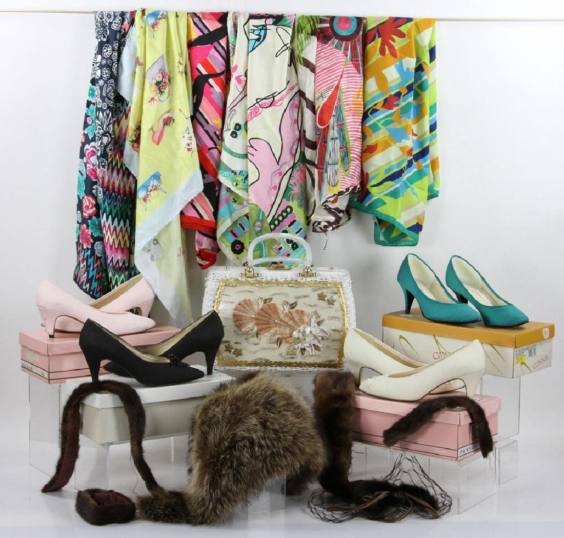Lot of Vintage Shoes and Accessories