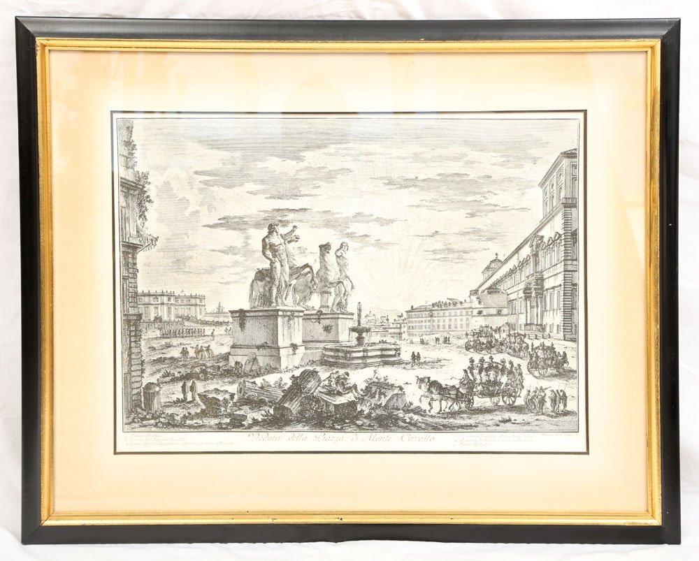 """Piranesi, """"Piazza di Monte Cavallo,"""" Print"""