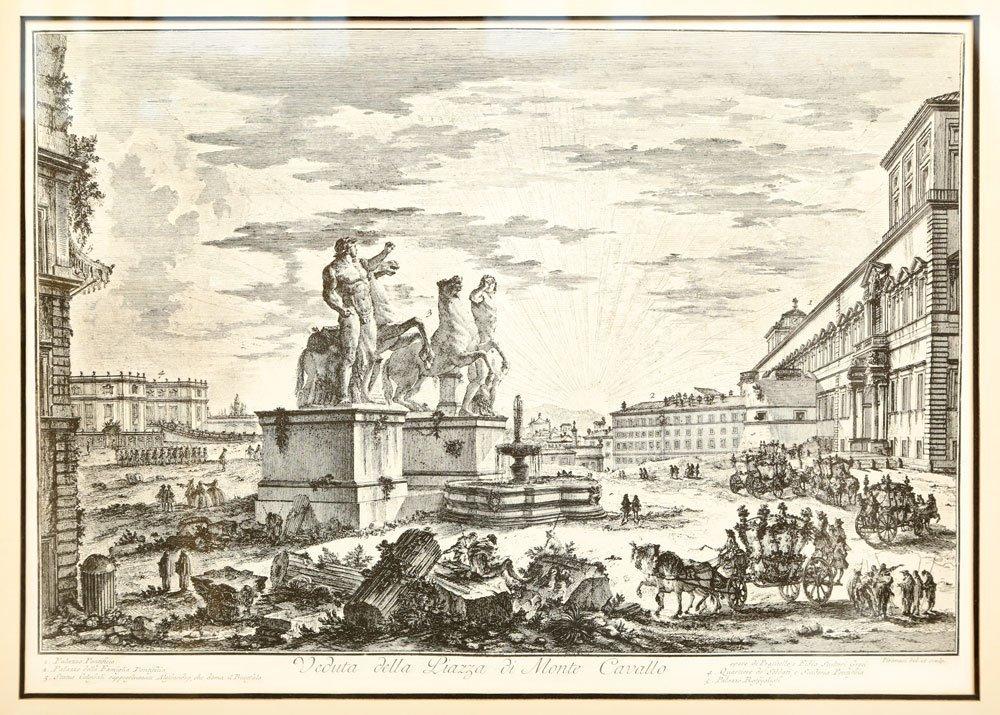 """Piranesi, """"Piazza di Monte Cavallo,"""" Print - 2"""