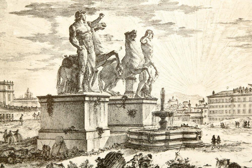 """Piranesi, """"Piazza di Monte Cavallo,"""" Print - 3"""