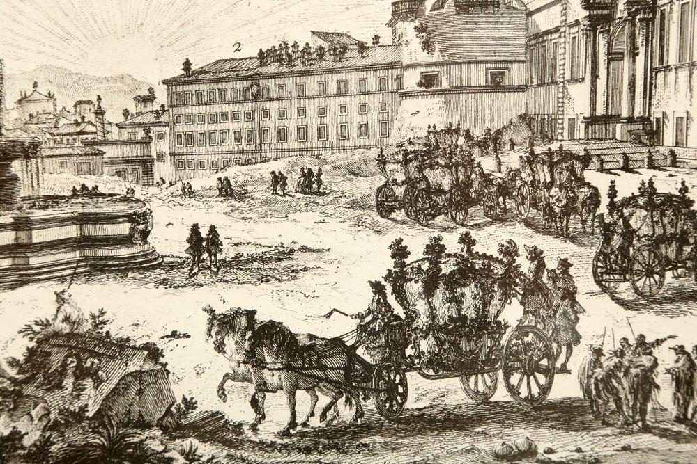 """Piranesi, """"Piazza di Monte Cavallo,"""" Print - 4"""