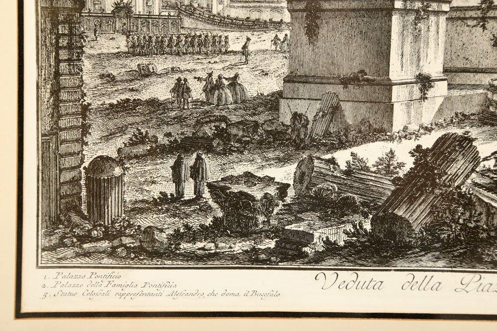 """Piranesi, """"Piazza di Monte Cavallo,"""" Print - 5"""