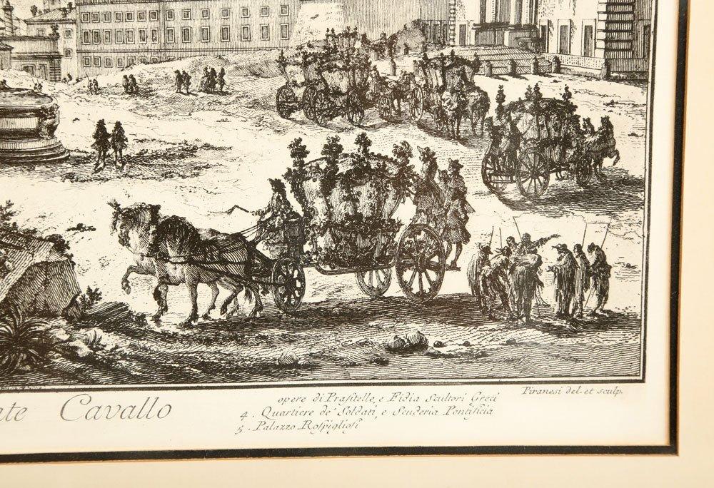 """Piranesi, """"Piazza di Monte Cavallo,"""" Print - 6"""