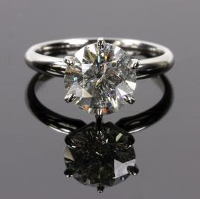 Ladies' Platinum Six Prong Solitaire Ring