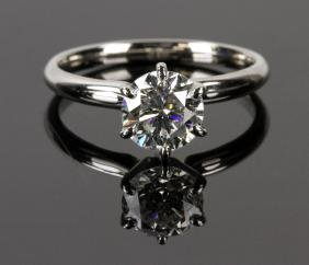 Ladies' 14K White Gold Six Prong Set Solitaire Ring