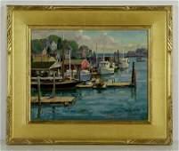 Mosher Camden Maine Oil on Canvas