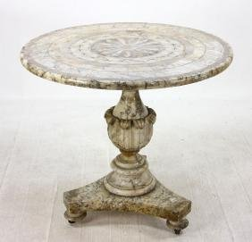 Italian Carved Marble Table