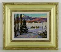 Mosher Winter in Vermont Oil on Canvas