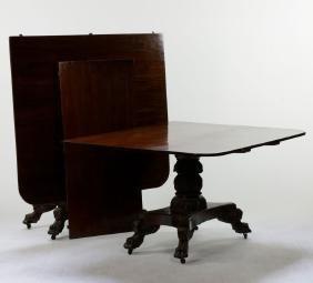 19th C. Classical Empire Mahogany Dining Table