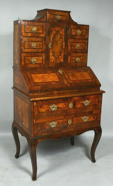 1016: 19th CENTURY GERMAN WRITING DESK w/ INLAY