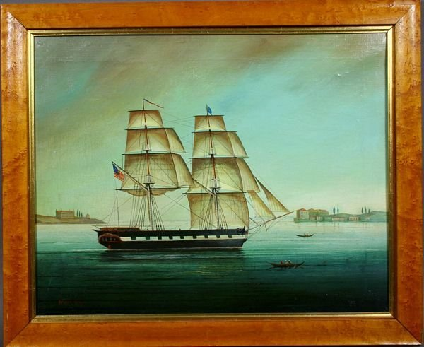 1021: SGND BRIAN COOLE, AMERICAN SHIP IN HARBOR O/C