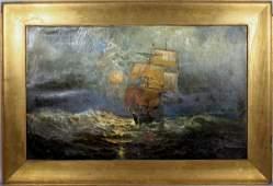 1077 IN MANNER OF EDWARD MORAN SAILING SHIP OC