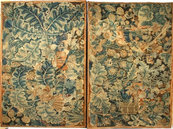 1107: TWO 18th CENTURY BELGIAN TAPESTRY PANELS