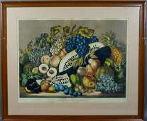 1189 LATE 19thC CURRIER  IVES AMERICAN FRUIT PIECE