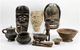 Collection of 12 African Wood Effigies, Krahn Clan