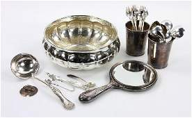 Collection of Sterling Silver & Silverplate, Tiffany,