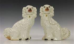 19th/20th C. Pr. of Ceramic Staffordshire Dog