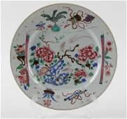 Chinese Export Porcelain Plate, Flower & Birds