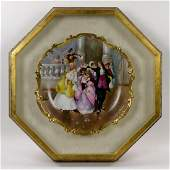 19th C French Limoges Charger in Cameo Frame