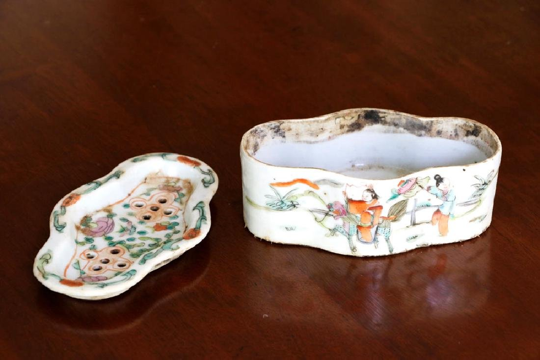 Lot of (3), Chinese Censer & Two 19th C. Imari Plates - 3