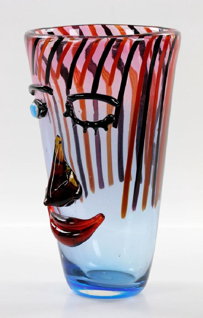 Italian Murano Art Glass Vase - 5