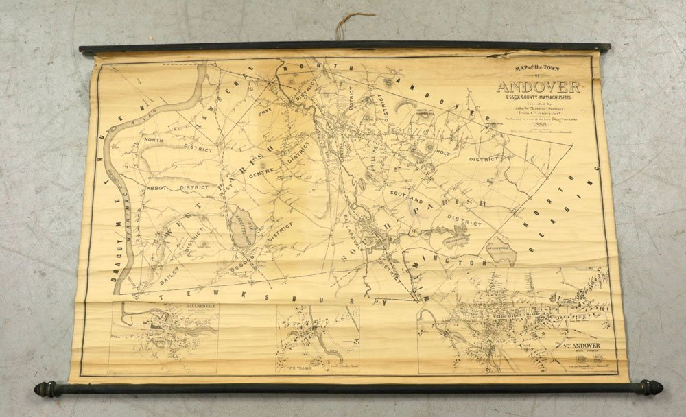 Lot of 19th C. Andover, Massachusetts Maps