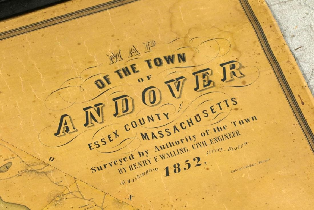 Lot of 19th C. Andover, Massachusetts Maps - 5