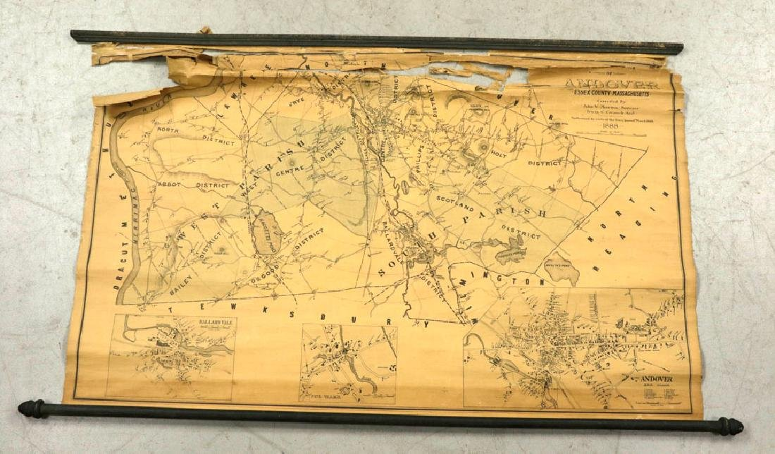 Lot of 19th C. Andover, Massachusetts Maps - 9