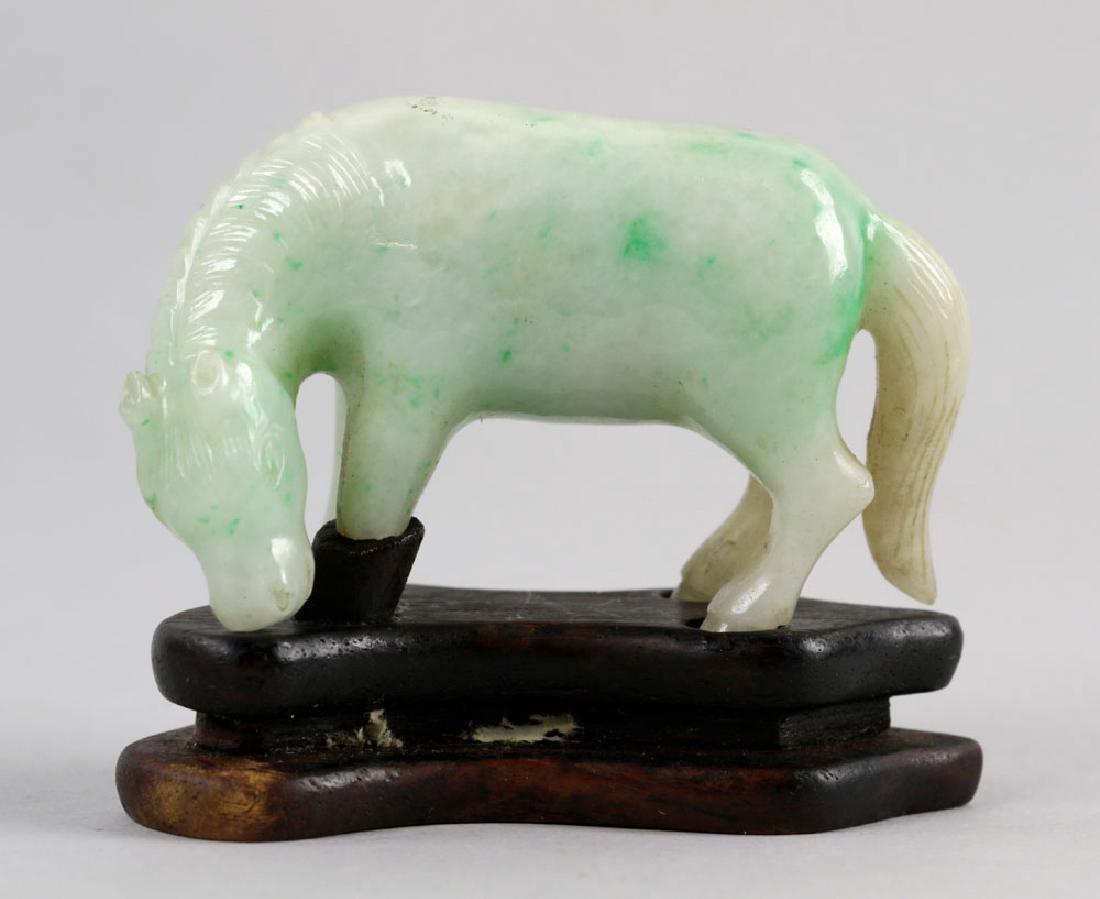 Chinese Jadeite Pendant & Figurine - 3