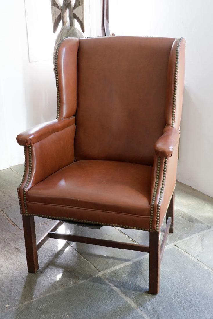George III Mahogany Upholstered Chair