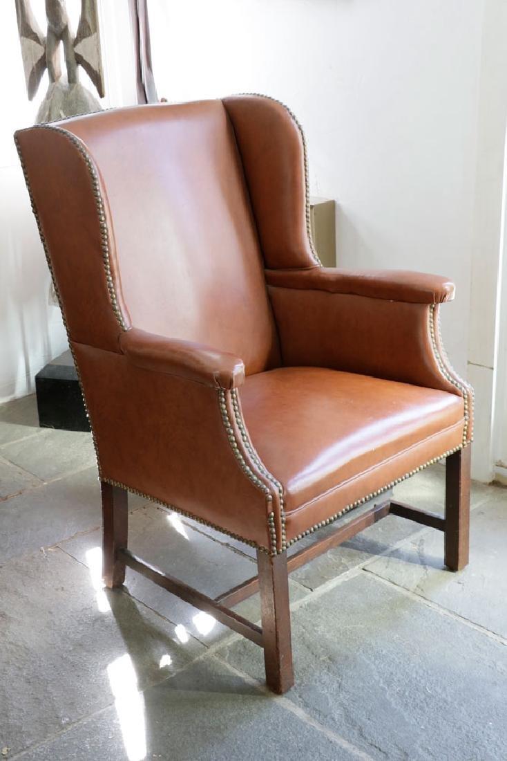 George III Mahogany Upholstered Chair - 2
