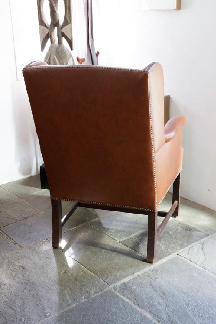 George III Mahogany Upholstered Chair - 3
