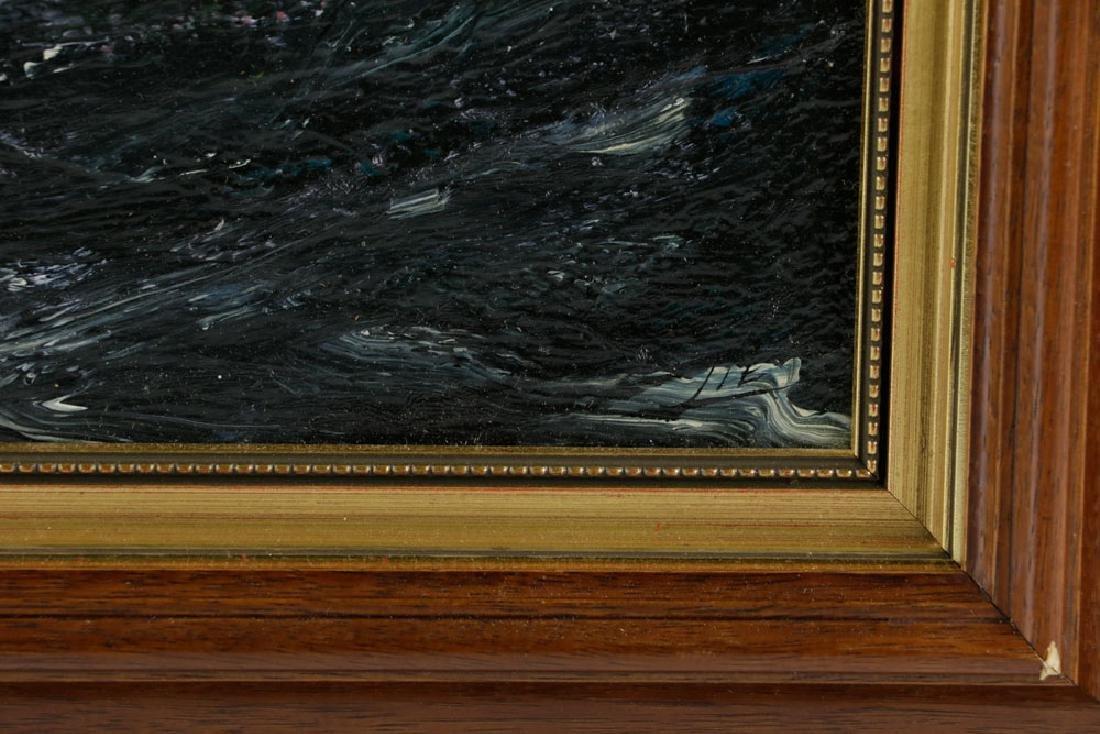 "Jonas Lie, ""Under Full Sail"", Oil on Board - 5"