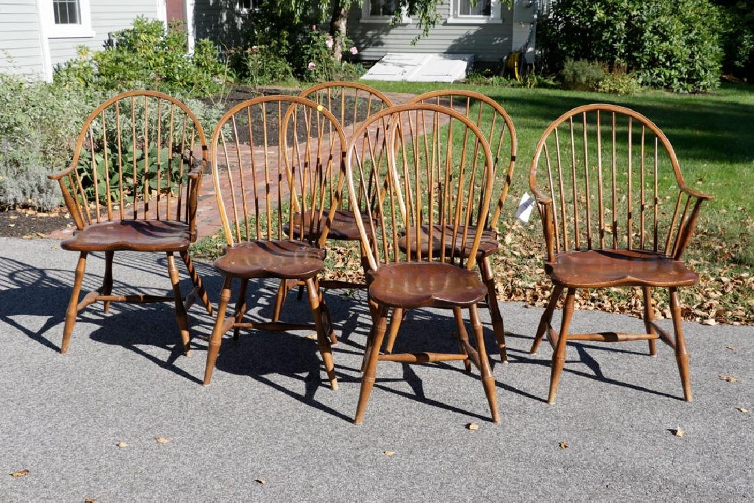 Set of (6) Windsor Style Chairs