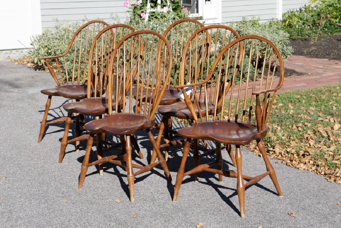 Set of (6) Windsor Style Chairs - 2