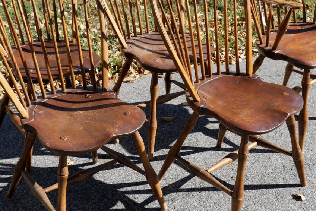 Set of (6) Windsor Style Chairs - 3