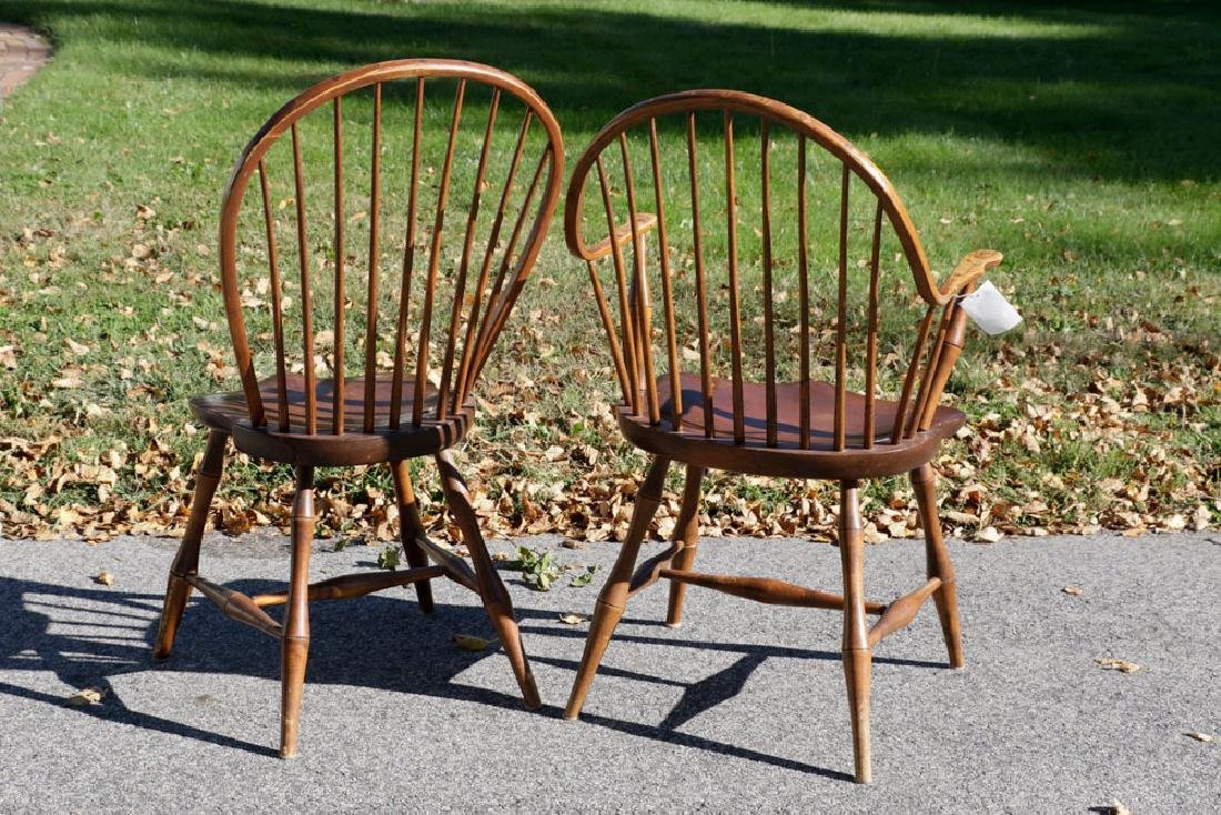 Set of (6) Windsor Style Chairs - 4