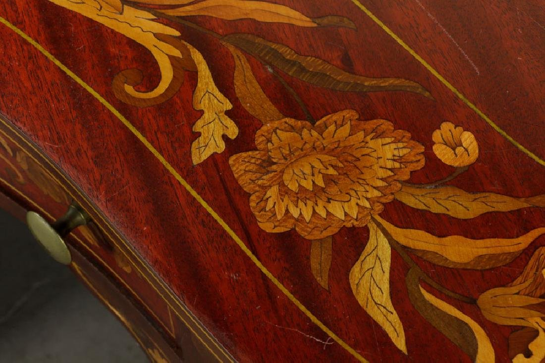 Antique Kidney Shaped Inlaid Writing Desk - 5