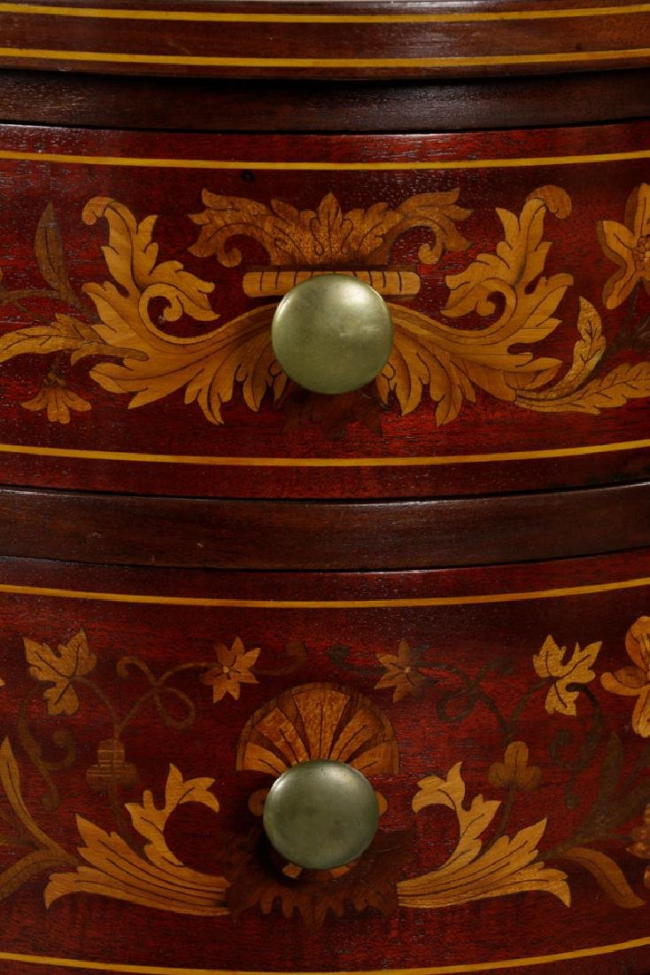 Antique Kidney Shaped Inlaid Writing Desk - 6