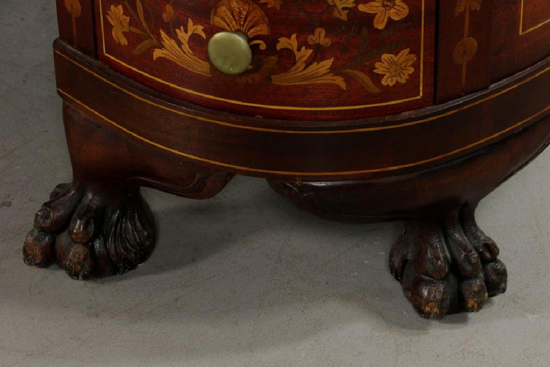 Antique Kidney Shaped Inlaid Writing Desk - 7
