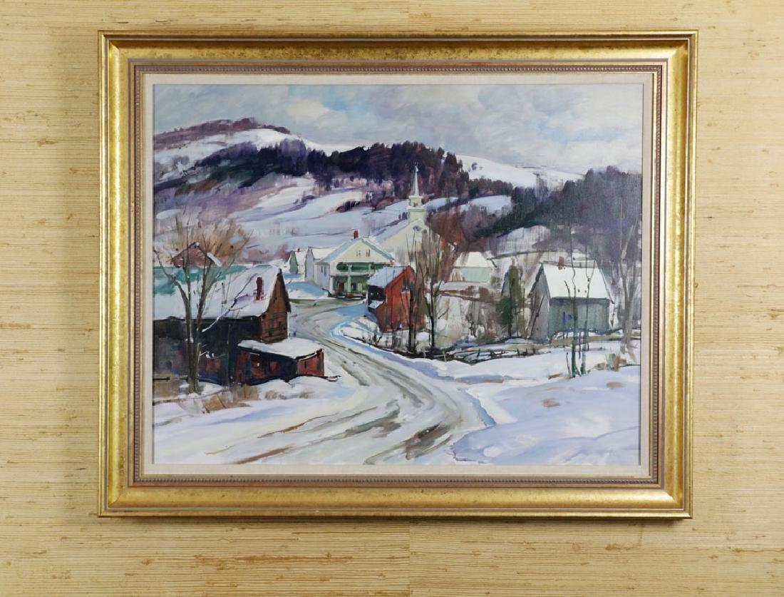 Aldro T. Hibbard, Vermont Winter Scene, Oil on Canvas
