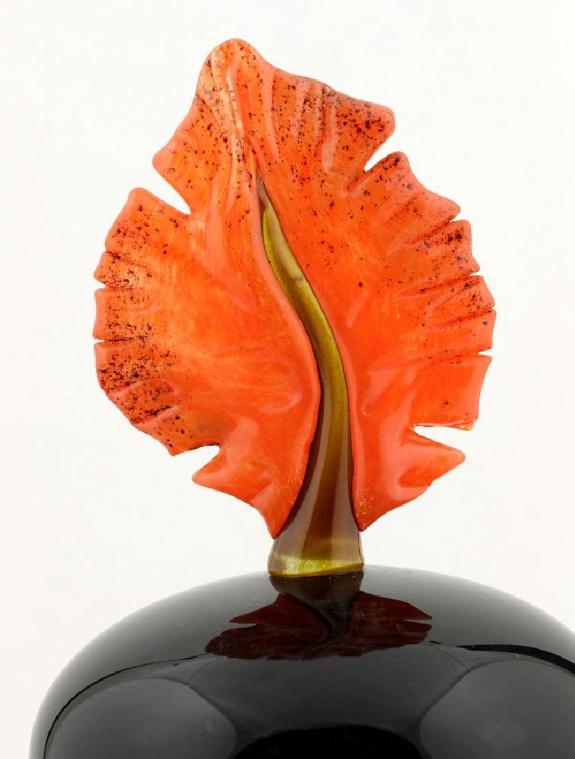 20th C. Bernard Katz Hand Blown Vase, Autumn Leaf - 9