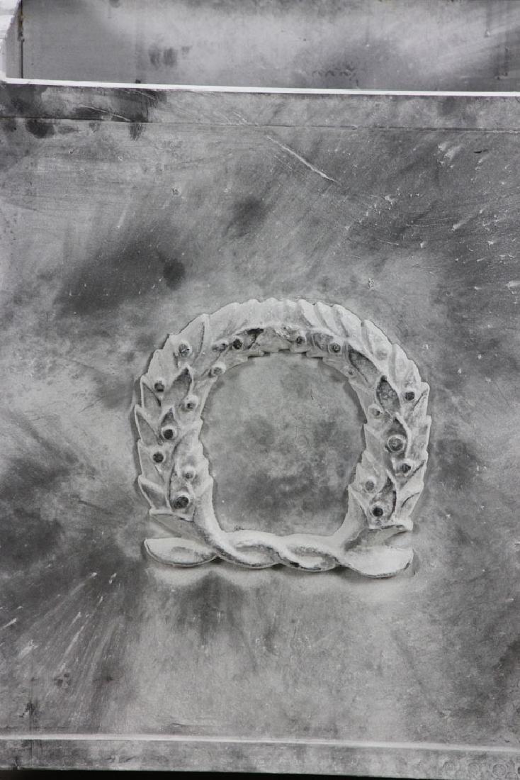 Pr of Steel Square Urns w/ Pine Cone Finials - 2